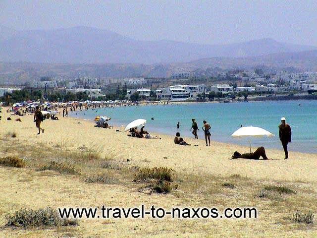 AGIOS PROKOPIOS BEACH - A view of the cosmopolitan beach of Agios Prokopios.