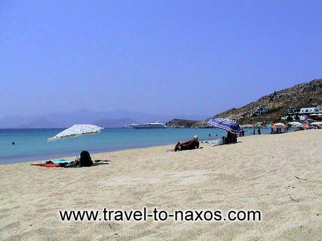 AGIOS PROKOPIOS BEACH - The golden sand of Agios Prokopios.