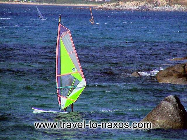 ORKOS - Windsurfing at Orkos beach.