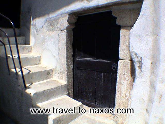 CHORA CASTLE - Door of a house in the castle.