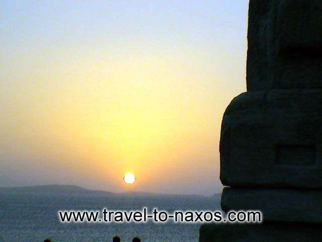Sunset at Portara. NAXOS PHOTO GALLERY - PORTARA
