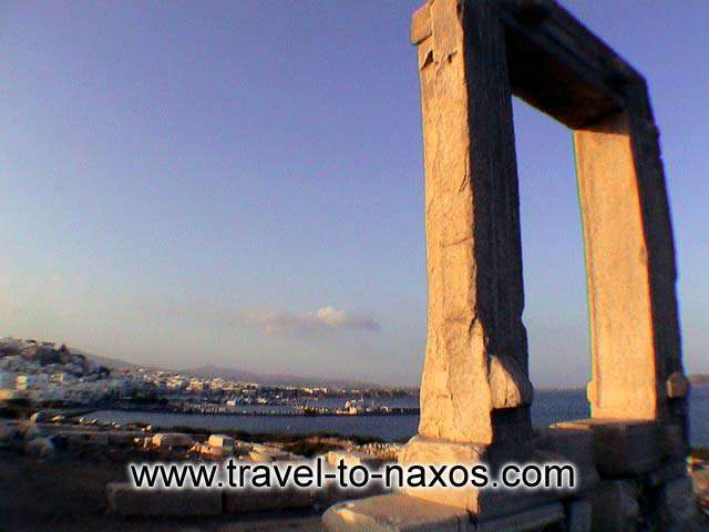 Portara is found on the little island Palatia. NAXOS PHOTO GALLERY - PORTARA