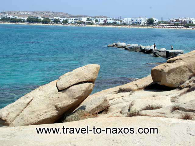 SHARK ROCK - A rock in the shape of a shark next to Agios Nikolaos church between Agia Anna and Plaka beach