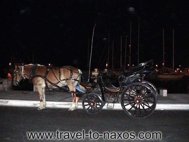 HORSE WAGON - Horse wagon in Naxos Chora.