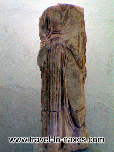 ARCHAEOLOGICAL MUSEUM - An ancient statue.