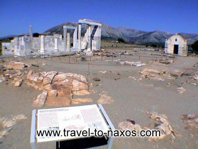THE TEMPLE OF DIMITRA AT SAGRI - In Sagri area are the remains of the ancient temple dedicated to godess Dimitra.