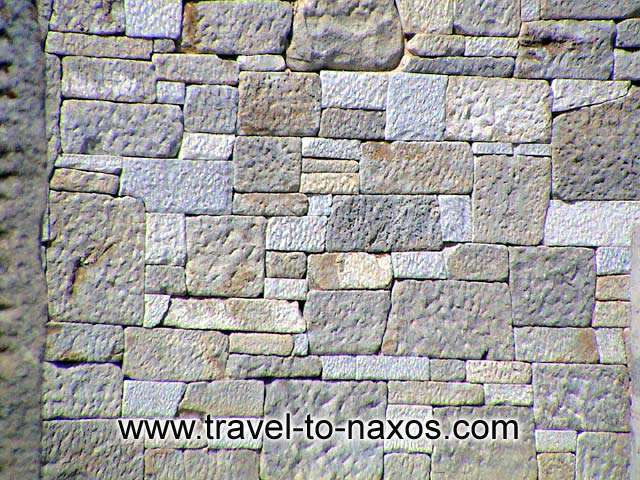 THE TEMPLE OF DIMITRA AT SAGRI - The walls of the temple.