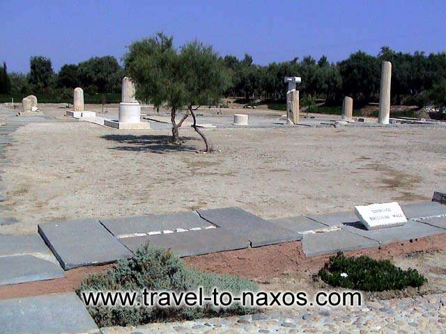 DIONYSOS TEMPLE AT IRIA - The temple of Iria is found in the place Livadi of Naxos and it was dedicated to god Dionysos.