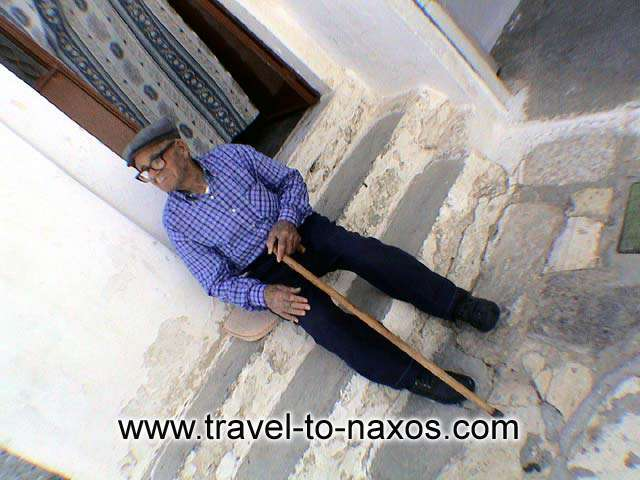 OLD MAN - Old man in Apiranthos village.