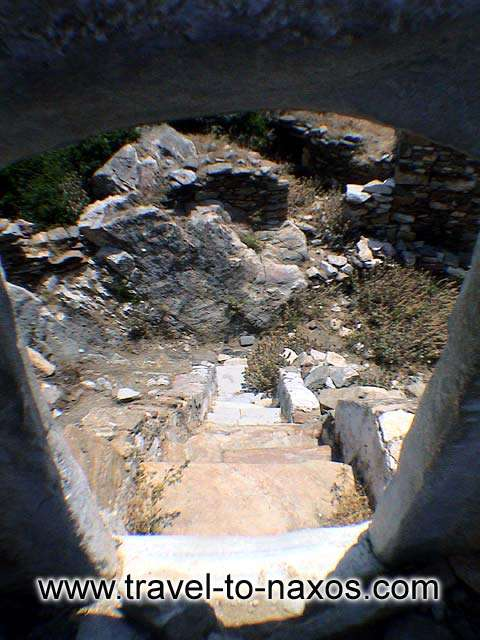 AGIAS TOWER - The narrow street that leads to the interior of the tower.