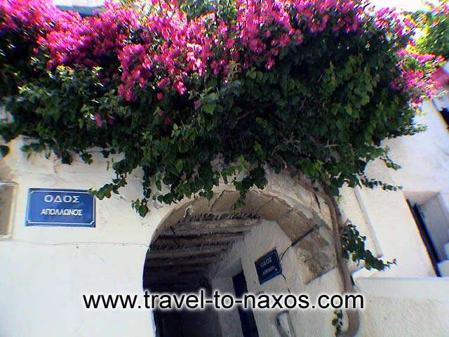 KASTRO - The Apollonos street in the Chora of Naxos.