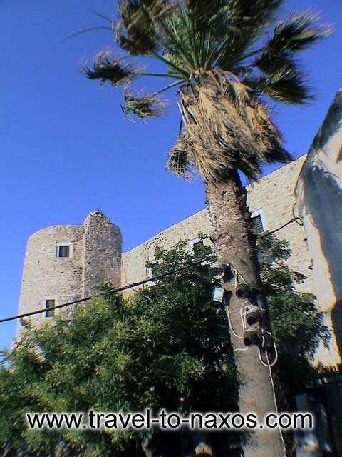 KASTRO - The tower is found on the top of the hill and it constitutes the Acropolis of Naxos.