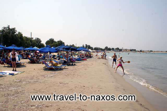 AGIOS GEORGIOS - Agios Georgios beach is the main organised beach of Naxos town