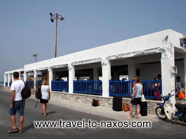 NAXOS PORT - The waiting point of pier 1 in Naxos port