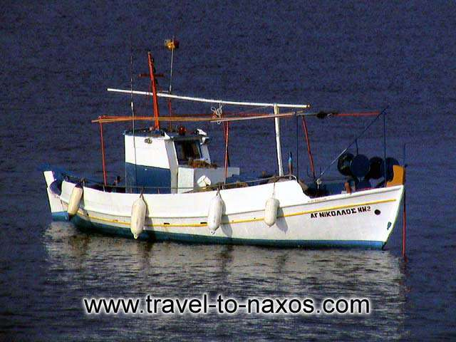 FISHING BOAT - Fishing boat in Naxos port.
