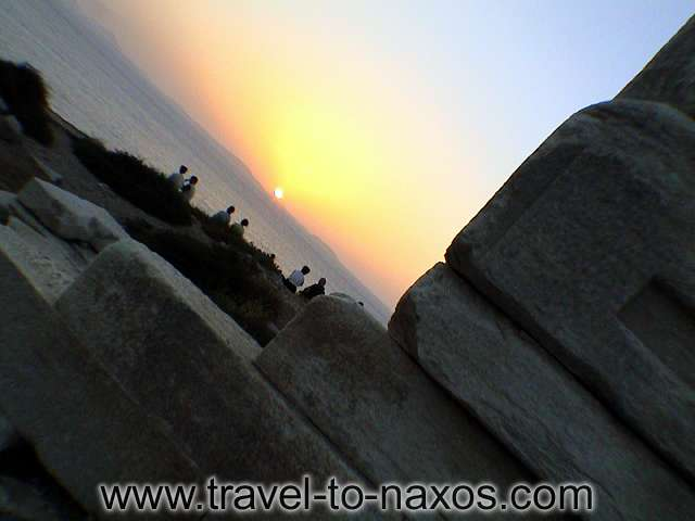 Sunset at Portara (Apollo temple). Enjoy it! NAXOS PHOTO GALLERY - SUNSET AT PORTARA