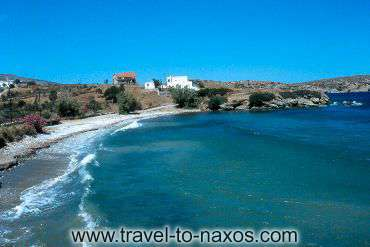 MOUTSOUNA BEACH - The wonderful beach of Moutsouna. The region is famous for her natural beauties.