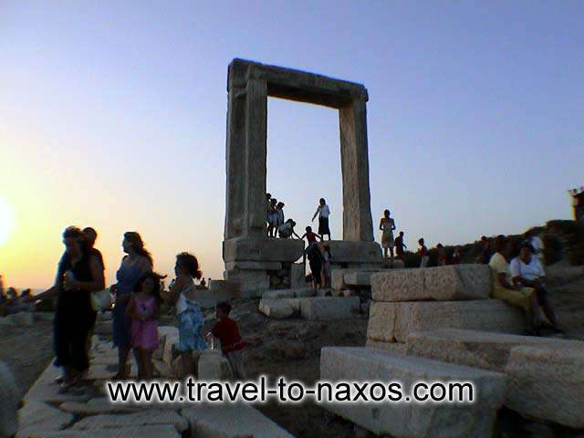 SUNSET AT PORTARA - Portara is the most famous monument of Naxos. Enjoy the sunset from there.