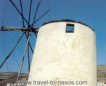 TRIPODES OR VIVLOS - A picturesque windmill at village Tripodes.