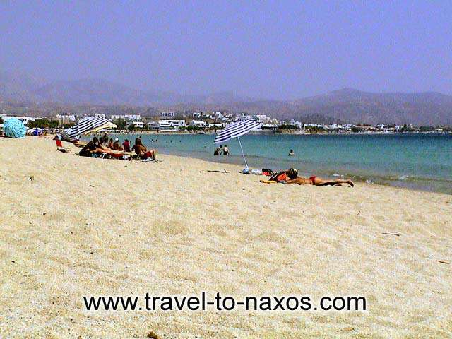 AGIOS PROKOPIOS BEACH - The beautiful golden sand of Agios Prokopios.