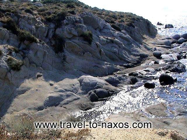 ORKOS BEACH - Rock formations at Orkos beach.
