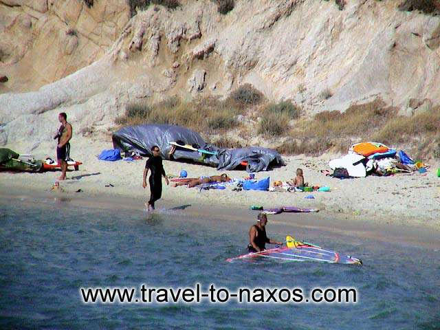 ORKOS BEACH - Because of the winds that blows in the region, Orkos beach is a good choice  for windsurfing.