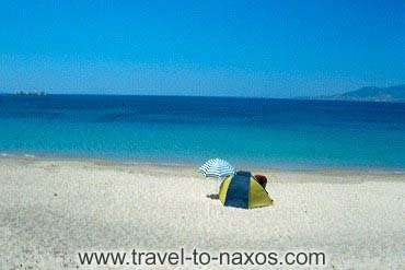 In a recent article published in the UK Joanna Symons includes Plaka beach among the top 10 beaches of Europe. According to Mrs Symons: <br><br>  There is something delightfully alternative about Plaka Beach on the Cycladic island of Naxos. A golden stretch of several miles, dotted with loungers and overshadowed by umbrellas, it has a relaxed attitude to clothing. <br><br>  The farther south you wander along it, the more flesh goes on display, starting with full swimming gear at the northern end and finishing with not very much at all half a mile along. <br><br>  The water is clear and blue, a mini market sells cold drinks and snacks -- and it's the closest you'll get to Goa in the Med.